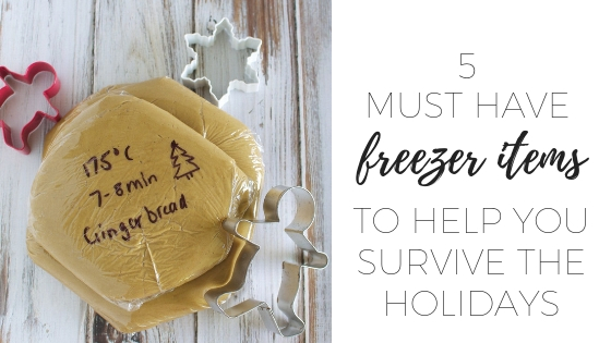 5 must have freezer items to survive the holidays