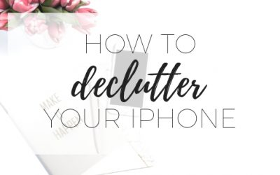 How to declutter your iphone